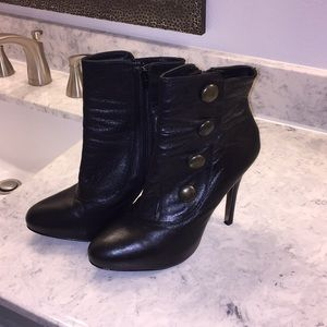 Steve Madden throwback booties 9s but run small.